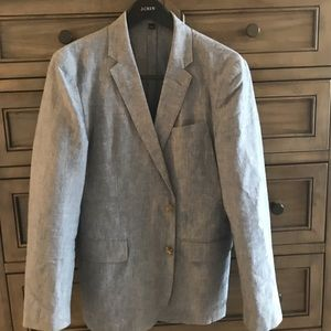 J Crew linen-cotton unstructured blazer